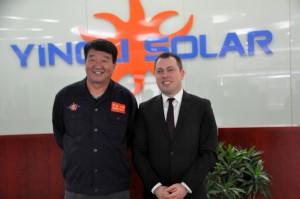 Yingli Solar CEO Liansheng Miao ve Türkiye Müdürü Uğur Kılıç
