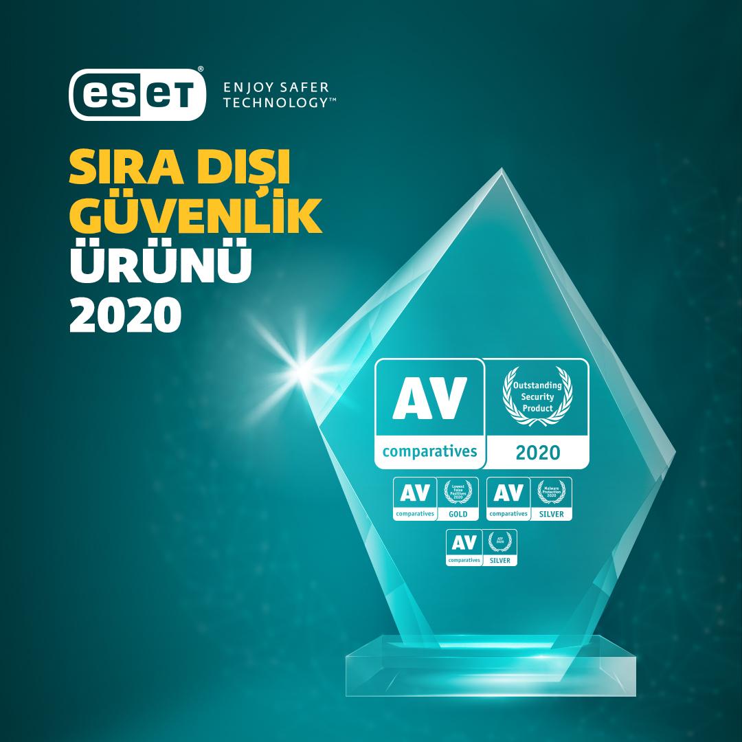 AV-Comparatives 2020 Sıra Dışı Güvenlik Ödülü